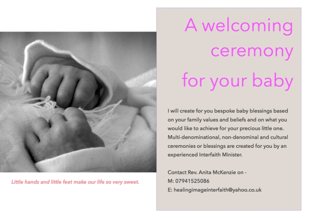 Baby blessings and Naming Ceremonies can be beautifully combined.