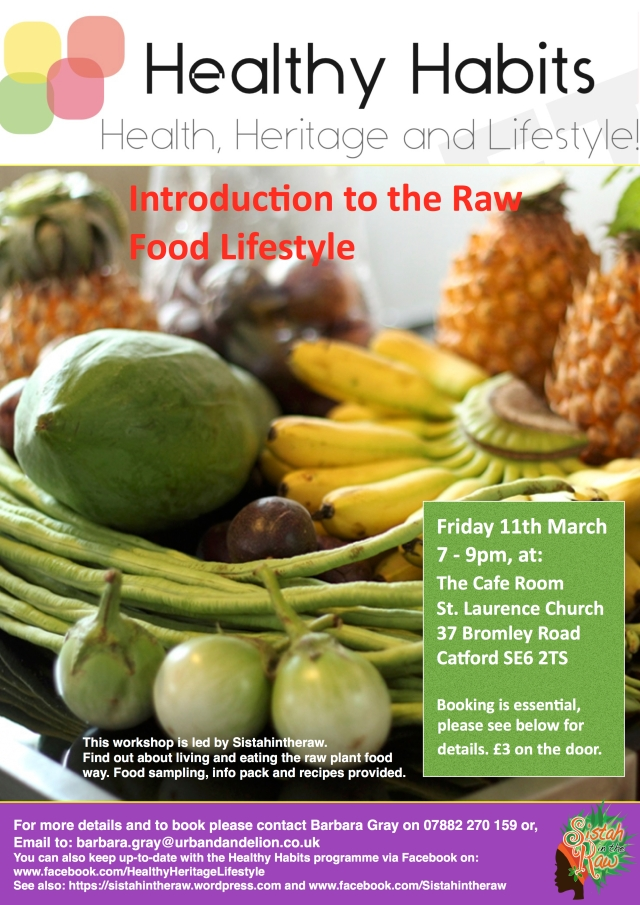 Healthy Habits Raw Food March 2016 flyer