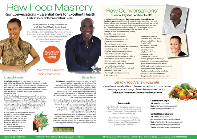All you need to know - check us out on http://www.rawfoodrevelations.com